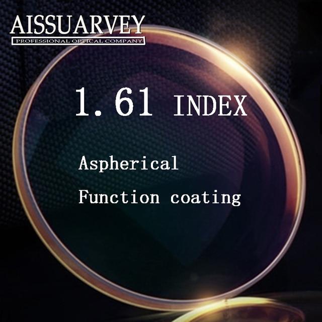 High quality optical prescription 1.61 Super thin aspheric HC TCM UV resin prescription lenses for myopia lentes opticos ASPH