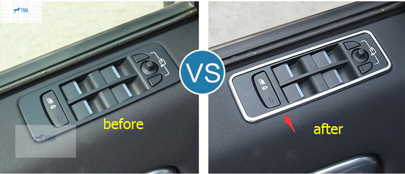 4 Pcs For Land Rover Discovery Sport 2015 2016 2017 ABS Window Lift Switch Mirror Control Button Panel Cover Interior Trim сковорода rondell geste rda 108 20 см