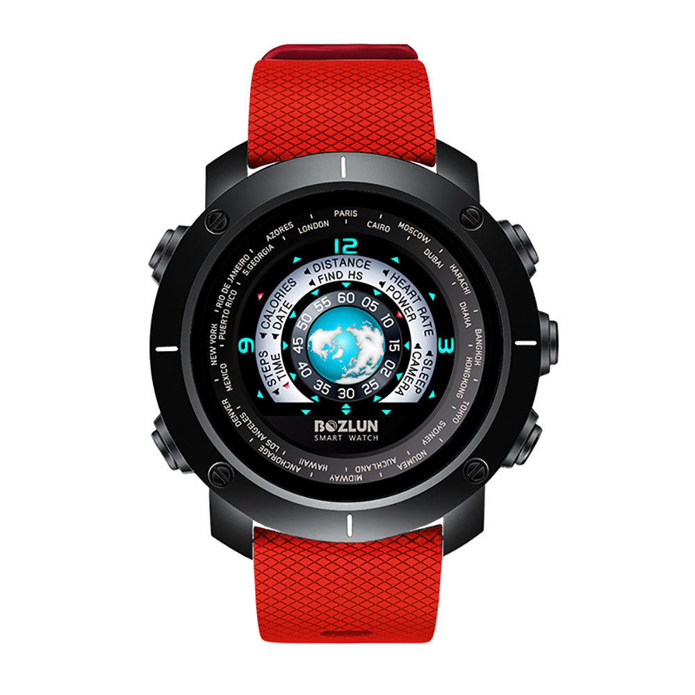BOZLUN W30 3D UI Digital Smart Watch Men Women Sports Smartwatch Heart Rate Calories Remote Wristwatch