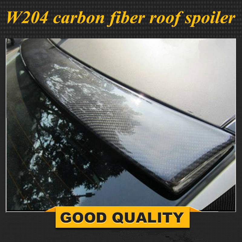<font><b>Mercedes</b></font> <font><b>C</b></font> <font><b>class</b></font> <font><b>w204</b></font> carbon fiber roof <font><b>spoiler</b></font> for <font><b>benz</b></font> 2007-2014 C180 C200 C220 C350 C300 image