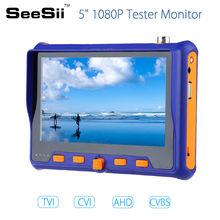 SEESII 5800 5″ HD 1080P Tester Monitor TVI CVI AHD VGA CVBS PTZ RS485 Control 2MP 12V 4in1 CCTV Security Camera Analog Video
