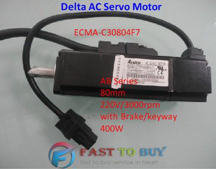 Delta AC Servo Motor 220V 400W 1.27NM 3000r/min 80mm ECMA-C30804F7 Brake One year warranty 30 3000r