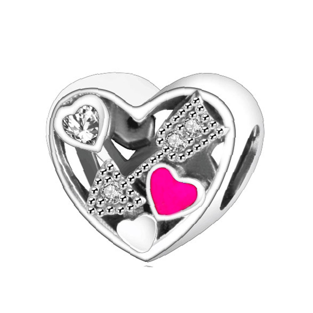 Valentines Day 2017 Charms 925 Sterling Silver Heart