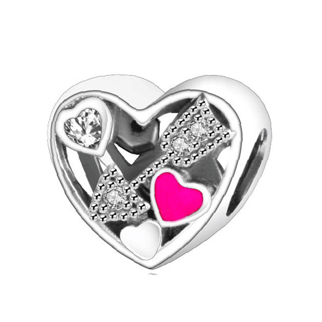valentines day 2017 charms 925 sterling silver heart arrow bead fit original pandora charms bracelet spring - Valentines Pandora Charms