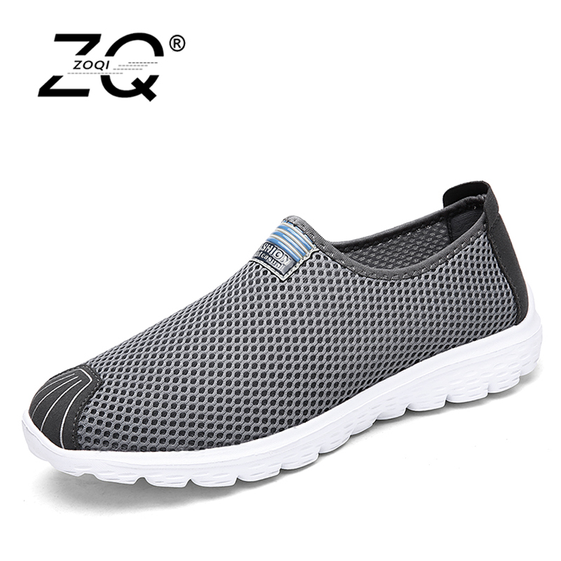 ZOQI Unisex Summer Breathable Mesh Men Shoes Lightweight Men Flats Fashion Casual Male Shoes Brand Designer Men Loafers 2016 new summer men shoes lightweight women casual shoes comfort trainers gym shoes for men breathable mesh fashion flats