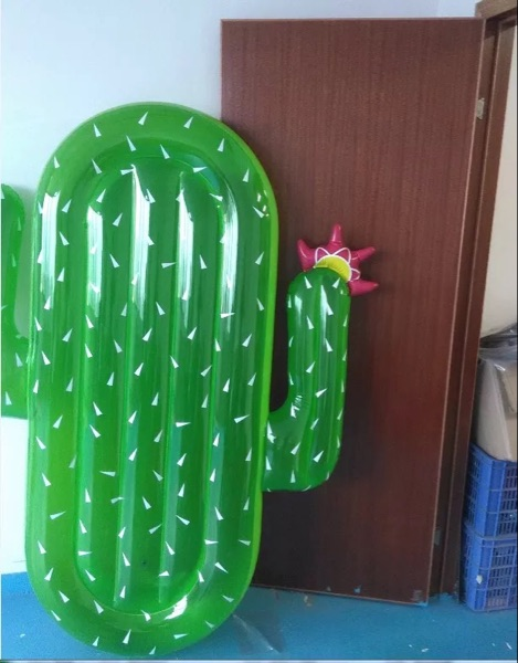 bed toy Cactus Shape Inflatable Children Beach Toy Kid's Outdoor Swimming Ring Adult Child Pool Sea Toy Summer Cute Sunbathe