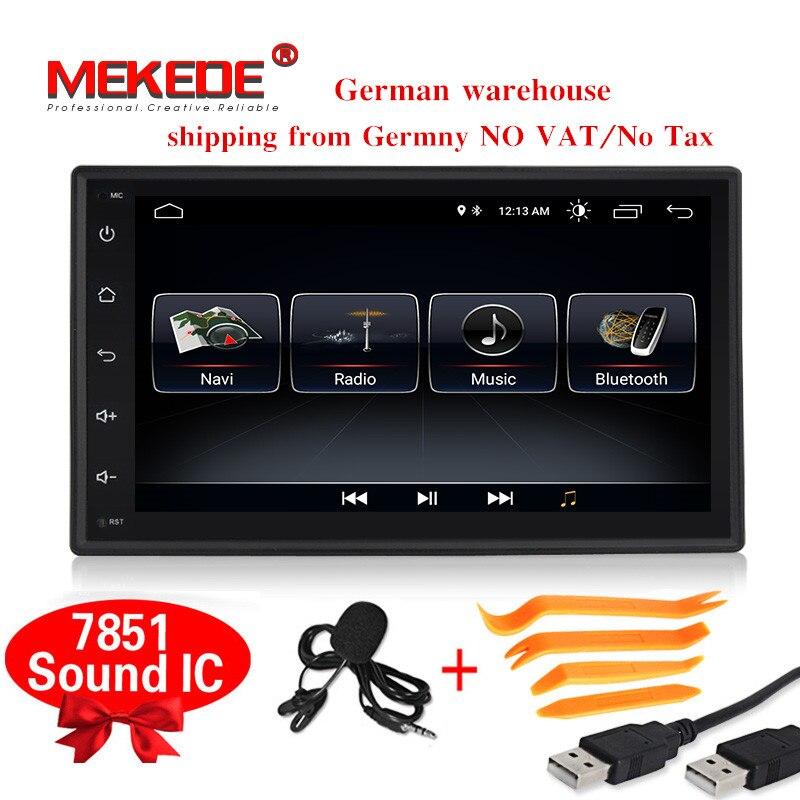 Promotions HD 1024x600 Android8.0 voiture Multimédia lecteur 2din Universel Pour Toyota Nissan VW Peugeot voiture gps radip téléphone bt