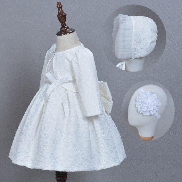 Neonate Eleganti Abiti Da Comunione con il Cappello Del Merletto Delle  Neonate Vestito di Compleanno Della 0b7e5690caf