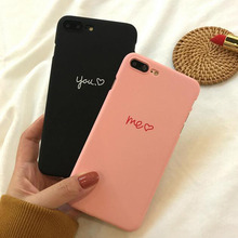 Cute Heart Lovers Couple PC Hard Plastic Phone Case Cover Coque For iphone 6 S 5S 5 SE 6Plus 7 7Plus 6S 8 8Plus X XS Max Xr