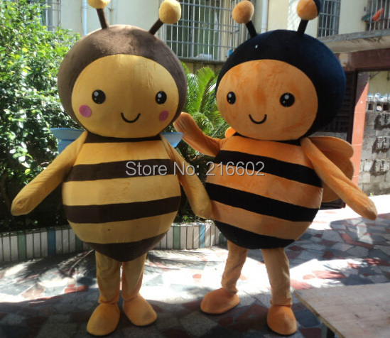 Lovely bee adult size mascot costume sales cosplay costume for Halloween party event