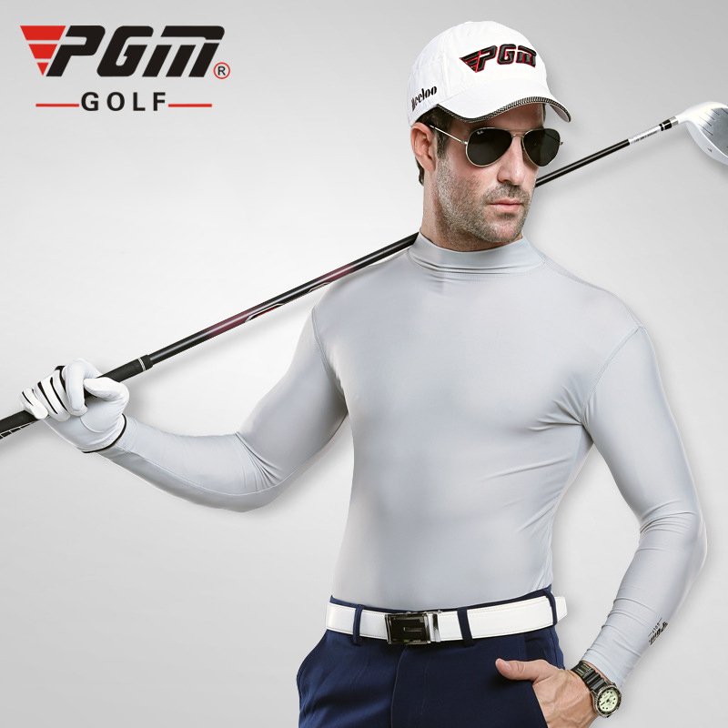 PGM Golf Shirt Mens Lycra Quick Dry Sunproof Summer Free Shipping Sports Long Sleeve Shirt Brand Golf Clothing Men