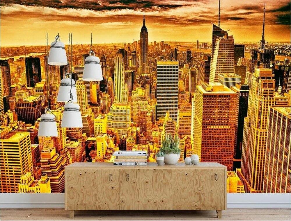 luxe achtergrond wallpapers custom 3d muurschildering behang new york golden stad hd photo muur luxe woonkamers in luxe achtergrond wallpapers custom 3d
