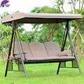 PurpleLeaf patio al aire libre columpio mecedora muebles de Alta calidad con 2 Especificaciones