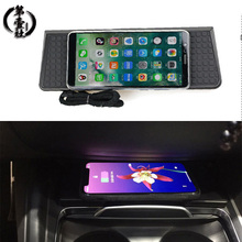 10W Car QI Wireless Charger Fast Charging Center Console Phone Holder Charging Panel for BMW X3 X4 F25 F26 iPhone 8 X XSmax car wireless fast charger console storage panel auto interior door charging panel for mobile phone for toyota for camry 8th 2018