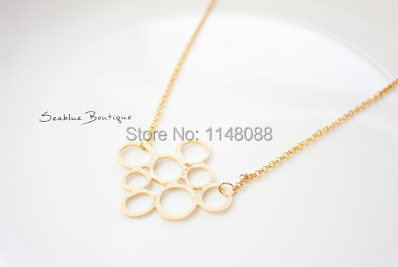 Newest Listing Jewelry Simple Design Circle Necklace Cute Gold Bubble Necklace Round Pendant Necklace 30pcs Lot Circle Necklace Designer Necklacenecklace Designer Aliexpress