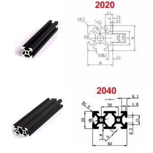 Image 3 - 1pc 2020 2040 2080 201000 3030 4040 t slot profil aluminiowy wytłaczanie 600mm 650mm 700mm 750mm 800mm dla DIY drukarka 3D CNC
