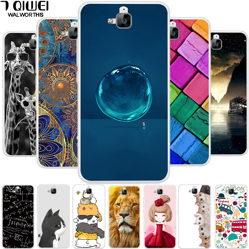 5.0'' Russian For Huawei Honor 4C PRO Case Cover Soft TPU Silicone FOR Fundas Huawei Y6 Pro Case Cover 4 C Painting Fashion Para