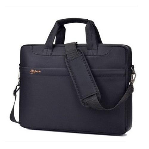 Laptop bag 14 inch Waterproof computer bags for Women and Man Portable Shoulder tablet Notebook bag (Black)
