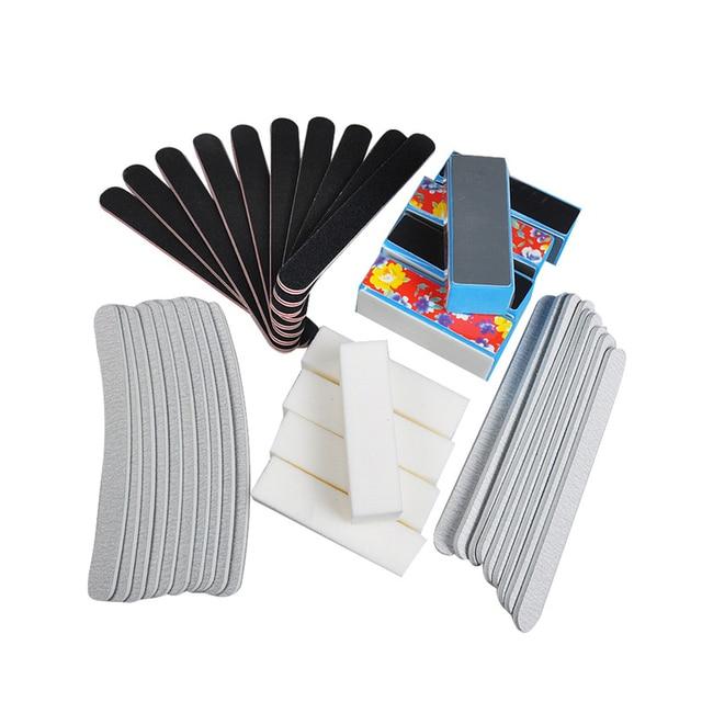 40PCS Nail Art Sanding Files Buffer Block Manicure Pedicure Tools Sand Paper Foam UV Gel Set DIY