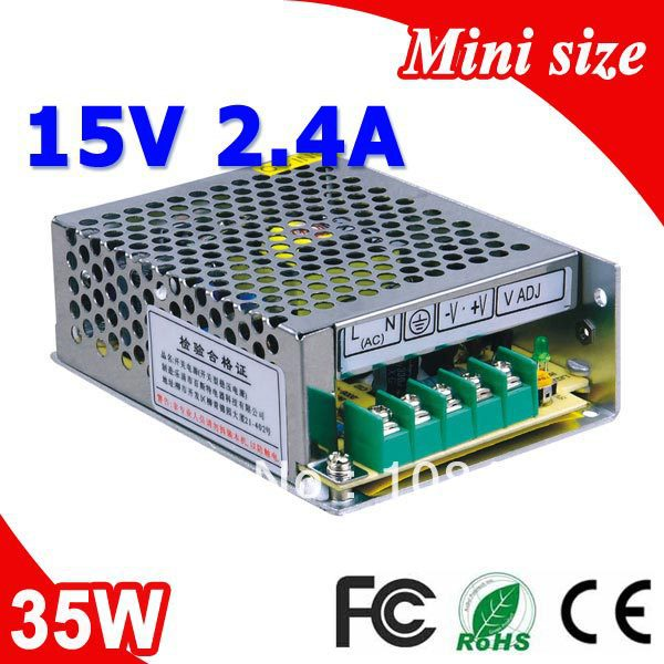 MS-35-15 35W 15V 2.4A 100V-240V INPUT Small Volume Single Output Switching Power Supply 35