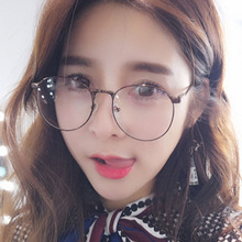 Woman Glasses Optical Frames Metal Round Frame Clear lens Eyeware Retro-classical round glasses for literature and art