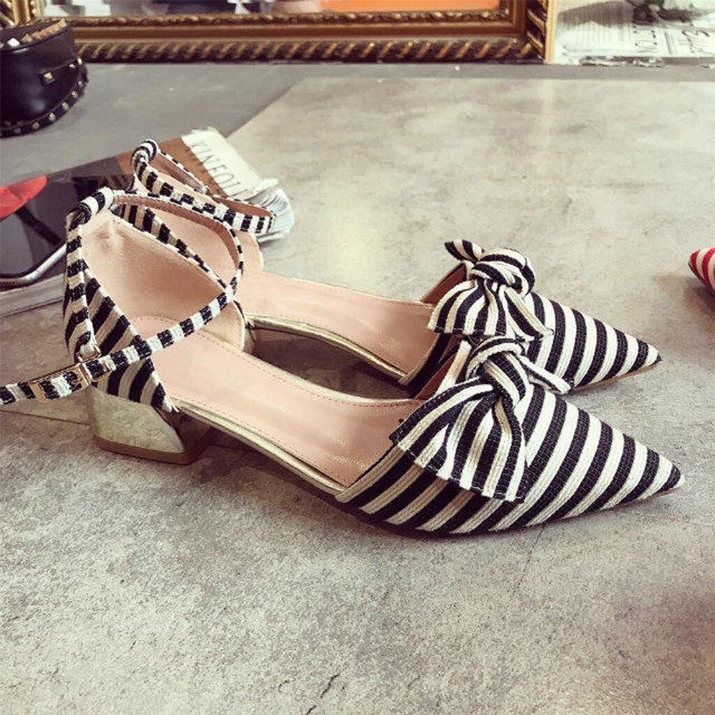 Hebilla Para Correa Mujer Las rojo Zapatos La Individuales Sandalias Boca Salvajes Arco Rayas Negro Nueva Señoras Baja Señaló De Moda Muqgew wFxqO7Xg