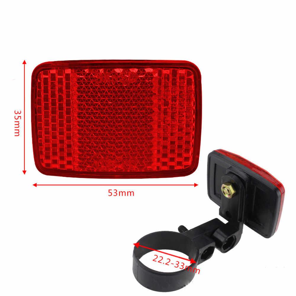 Handlebar Mount Aman Reflektor Stiker Sepeda Sepeda Depan Belakang Peringatan Merah/Putih Baru Aksesoris Sepeda M23