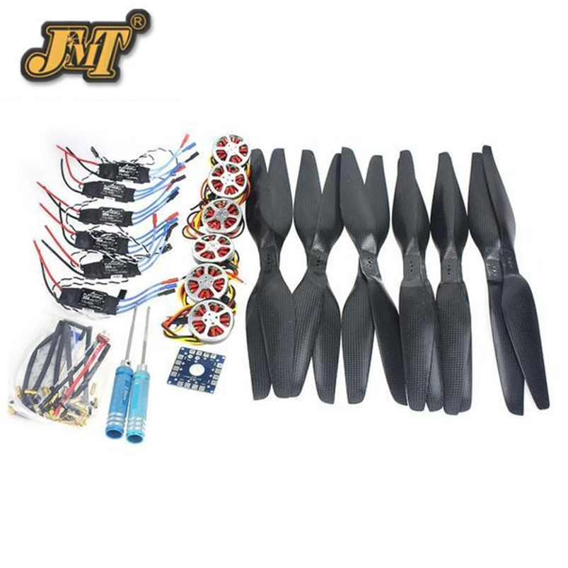 JMT 6-Axis Foldable Rack RC Helicopter Kit KK Control Board+750KV Brushless Disk Motor+15x5.5 Propeller+30A ESC jmt j510 510mm carbon fiber 4 axis foldable rack frame kit with high tripod for diy helicopter rc airplane aircraft spare parts