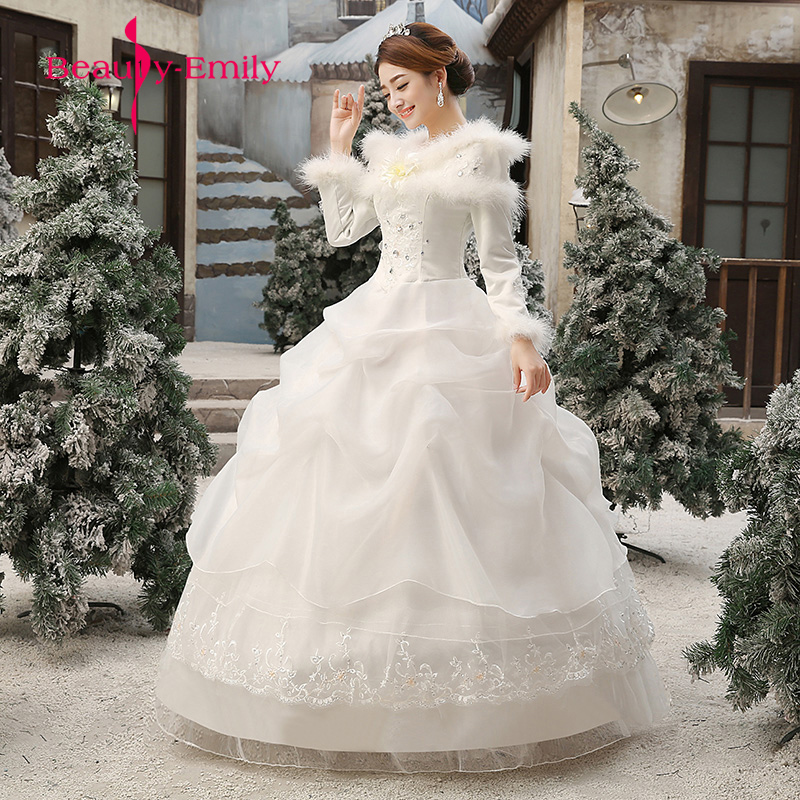 Beautiful Wedding Ball Gowns: Beautiful Ball Gown Wedding Dresses 2018 New Winter Lace