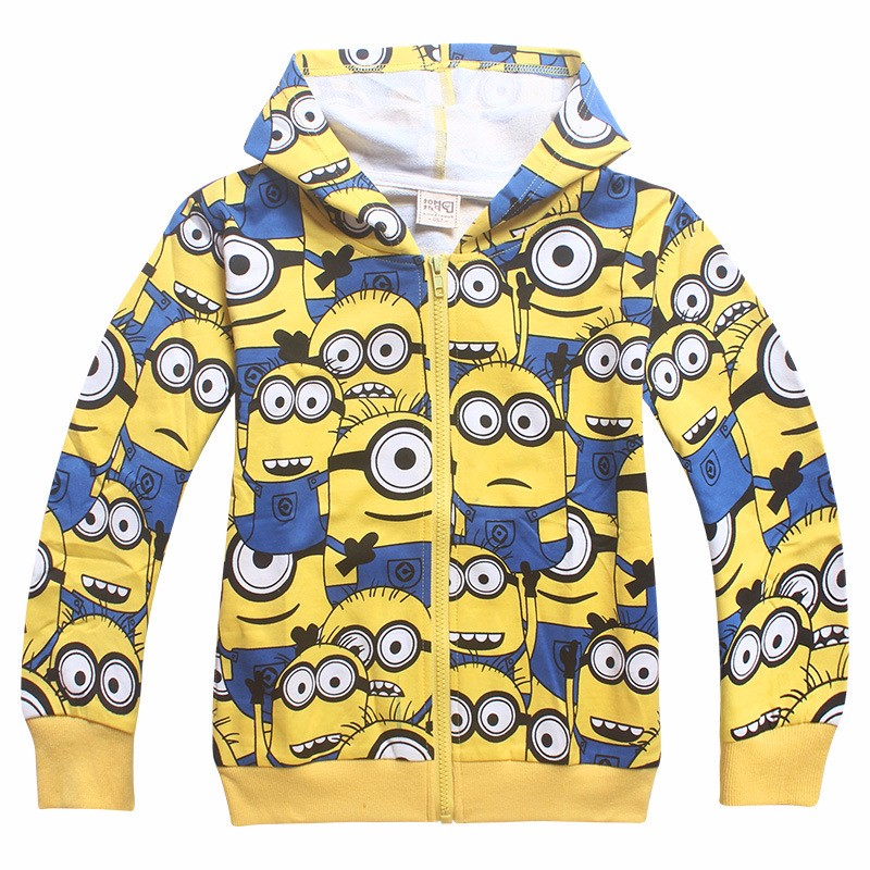 Minions boys clothes girls t shirts for kids clothing toddler in children Spring hoodies costume sweatshirts cartoon sweater (1)