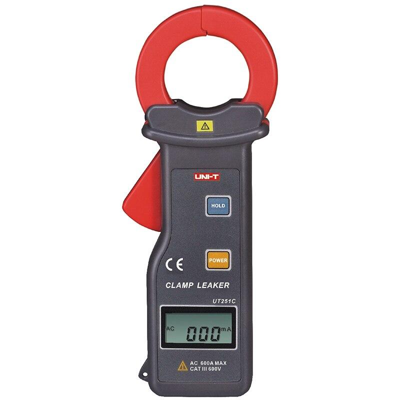 UNI-T UT251C Braçadeira de Alta Sensibilidade Vazamento Tester Atual Medidor Amperímetro Multitester UT251C 99 Registro de Dados