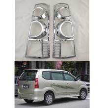 For Toyota F601 Avanza 2007 2008 2009 2010 2011 ABS Chrome accessories plated Rear Light Lamp Cover Trim Tail Light Cover 2pcs for mercedes benz smart fortwo 2015 abs rear tail lamp light cover protector trim