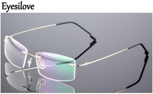 Eyesilove מוגמר אופנה נשים גברים קלים במיוחד משקפיים קוצר ראיה ללא שפה משקפיים קצרי רואי שאינו בורג ללא מסגרת משקפיים קוצר ראיה