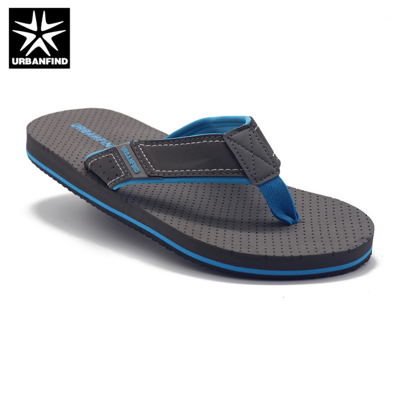 URBANFIND Beach / Home Summer Shoes Men Slippers Size 41-46 Breathable Soles Footwear Man Casual Flip Flops