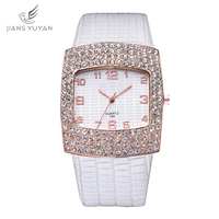 Luxury Brand Design Ladies Watches Women leather strap Bracelet Rhinestone Crystal Diamond Quartz Wristwatch Relogio Feminino