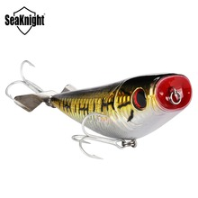 SeaKnight SK048 Topwater Popper 29g 100mm Floating Fishing Lure 1PC Fishing Bait with VMC Hooks Metal Propeller for Carp Fishing