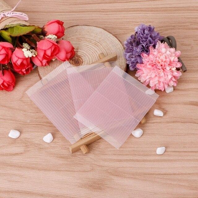 50 piezas de fibra Invisible doble párpados mágico estiramiento adhesivo cinta Rosa Natural técnica de los ojos de las mujeres herramientas de los párpados