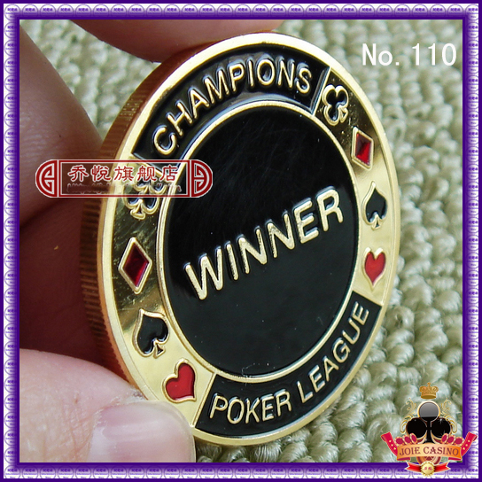 Metal for Pressing Poker Cards Guard Protector No.110CHAMPIONS WINNER  Poker Chips Souvenir Coins