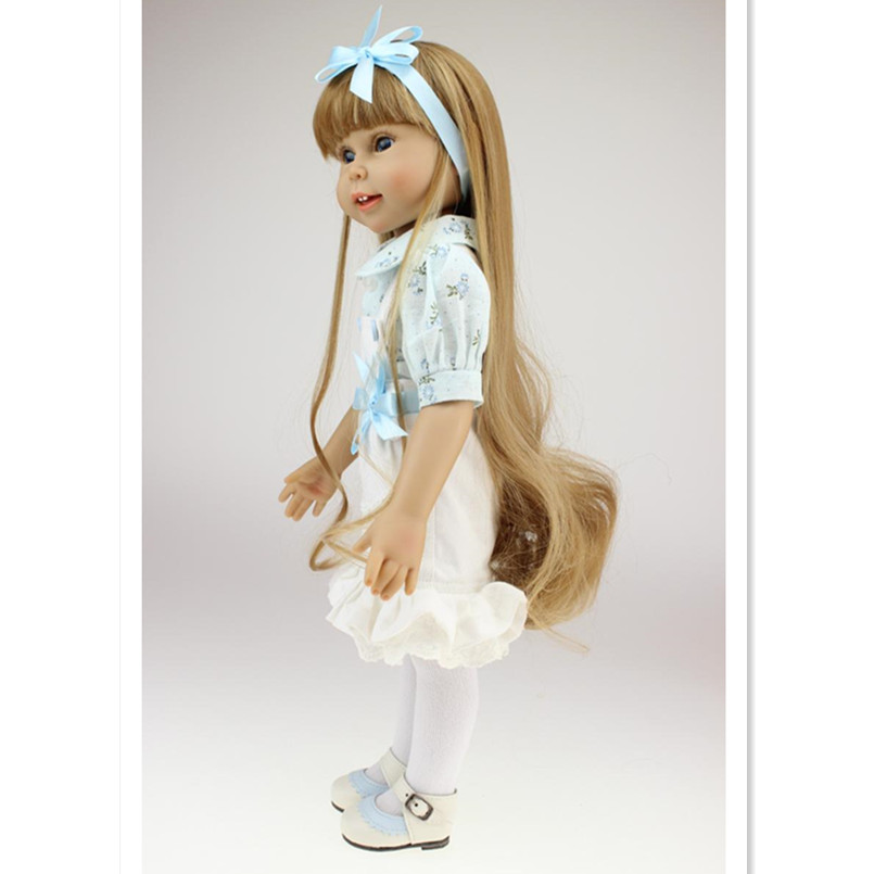 18 Inch American Girl Doll Princess Doll with Clothes,Plastic Baby Girls Doll Plaything Toys for Children Free Shipping american girl doll clothes ears and tail tiger leopard sets doll clothes with shoes free for 16 18 inch dolls 3 colors mg 262