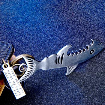 Kolor srebrny shark brelok z otwieraczem do butelek 2020 stop wielofunkcyjny ryby korkociąg breloczki biżuteria nowa dostawa skóra bydlęca brelok tanie i dobre opinie EXYNLON CN (pochodzenie) Ze stopu cynku moda K020042-B Mężczyźni Metal Antyczny posrebrzany Zwierząt Archiwalne Zgodna ze wszystkimi