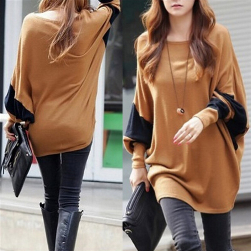 Women Batwing Sleeve Sweaters Dresses New Fashion Women New Winter Auturm Sweaters Pullovers