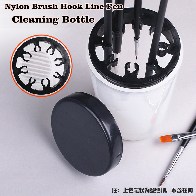 Miniatures Coloring Nylon Brush Hook Line Pen Cleaning Bottle Models Hobby Painting Tools Accessory