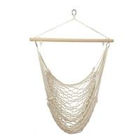Outdoor Hammock Chair Hanging Chairs Swing Cotton Rope Net Swing Cradles Kids Adults Outdoor Indoor