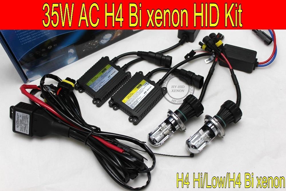 Livraison gratuite 1set12V 35 w AC xenon kit H4 Bi xenon HID haute et basse kit 6000 k 8000 k 3000 k 4300 k 10000 k phare de voiture