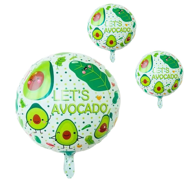 18 Inch Avocado Aluminum Foil Balloons Children Birthday Gifts Fruit Party Decoration Supplies Mylar Balloon Kids Shower Toys