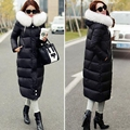 Korean NEW 2017 Fashion Winter Long Paragraph Slim Thick Knee Female Winter Jacket Women Down Coat Women's Down Jackets P55