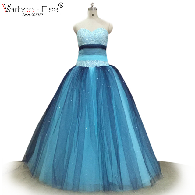 2018 Blue Dream Quinceanera Dresses Ball Gowns With Silver Beading ...