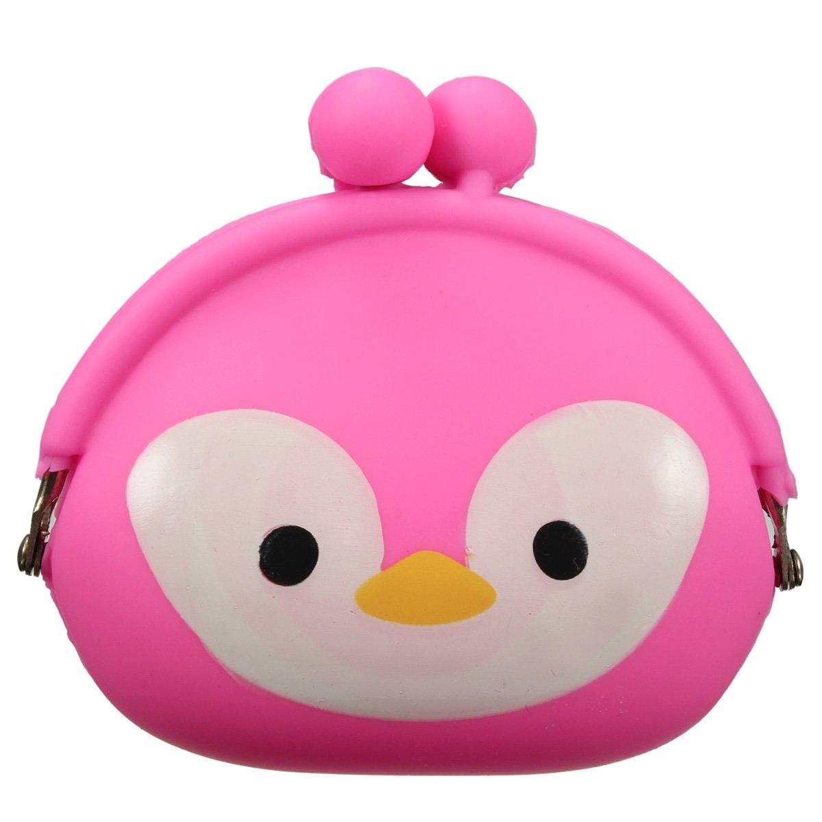 Women Girls Wallet Kawaii Cute Cartoon Animal Silicone Jelly coin purse Purse Kids Gift Penguin