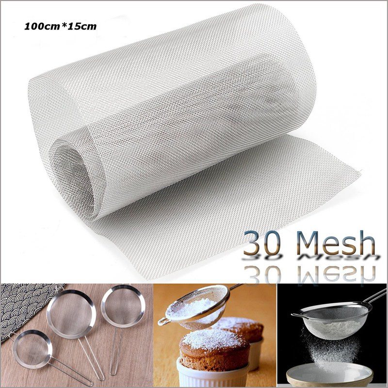 100*15CM DIY Stainless Steel 30 Mesh Wire Cloth Screen Plate Filtration Filter 39x6''