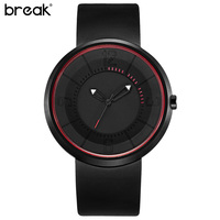 Break Unisex Creative Girls Cool Gift Minimalist Quartz Clock Quality Rubber Relogio Men S Boys Fashion
